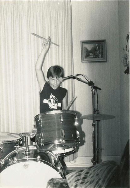 Young Matt Rocking Out.